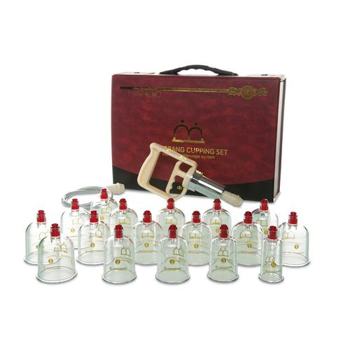 Plastic cupping set,17cups with pump and tube, 1013327, Cupping Glasses