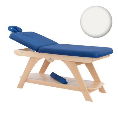 wood Massagetable black with shelf,  41 blanc, 1015137, Portable Massage Tables