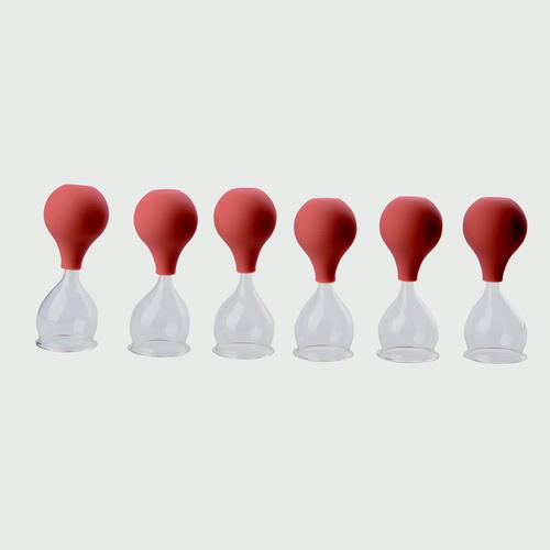 Glass cupping set w. suction bulb, 40 mm,set of 6 pcs., 1018098, Cupping Glasses