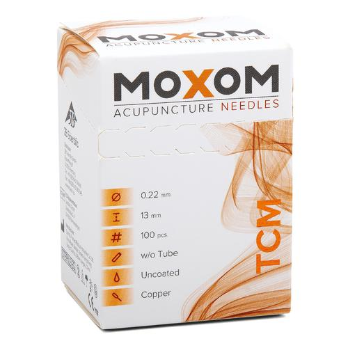 Acupuncture needles MOXOM TCM 100 pcs. (Uncoated) 0,22 x 13 mm