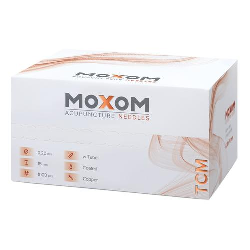 Acupuncture needles MOXOM TCM 1000 pcs. (silicone coated) 0,20 x 15 mm, 1022104, Acupuncture Needles MOXOM