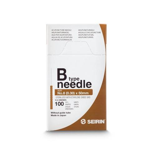 SEIRIN  ® type B - 0.30 x 50mm, brown handle, 100 needles per box., 1017653 [S-B3050], Acupuncture Needles SEIRIN
