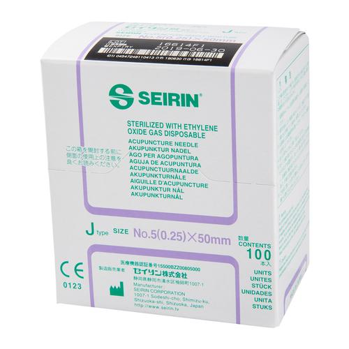 S-J2550 SEIRIN J-Type needle with guide tube; Diameter 0.25 mm Length 50 mm Colour violet, 1002425 [S-J2550], Acupuncture Needles SEIRIN