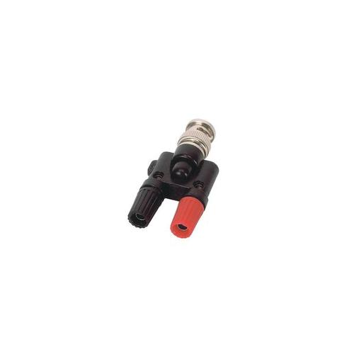 Adapter, BNC Plug/4 mm Jacks, 1002750 [U11259], Experiment Leads and Cables