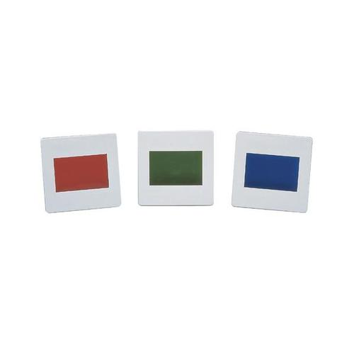 Set of 3 Colour Filters, Primary Colours, 1003185 [U21878], Apertures, Diffraction Elements and Filters