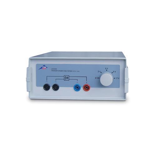 Transformer with Rectifier 3/6/9/12 V, 3 A (115 V, 50/60 Hz)