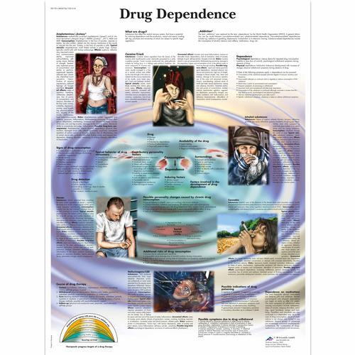 Drug Dependence Chart, 1001618 [VR1781L], Addiction