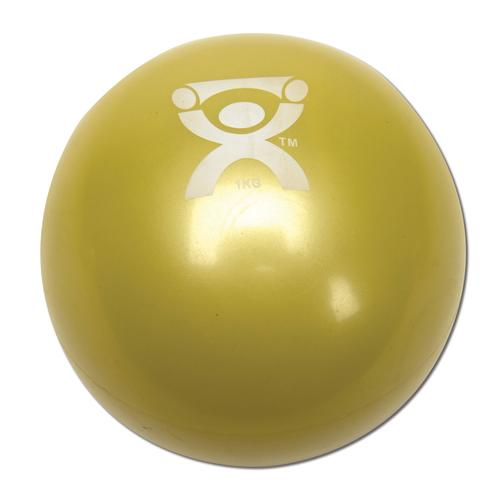 Cando Plyometric Weighted Ball, yellow, 2.2 lbs, 1008993 [W40121], Weights