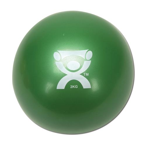 Cando Plyometric Weighted Ball, green, 4.4 lbs, 1008995 [W40123], Weights