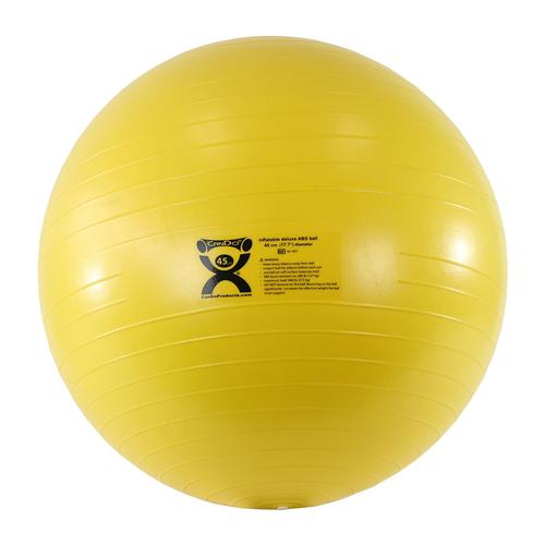 Exercise Ball 75cm Anti Burst: Cando Deluxe Anti-Burst Exercise Ball, Yellow, 45cm