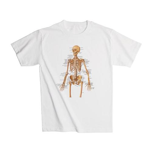 Anatomical T-Shirt Skeleton, XL, 1005503 [W41011], Anatomical T-Shirts