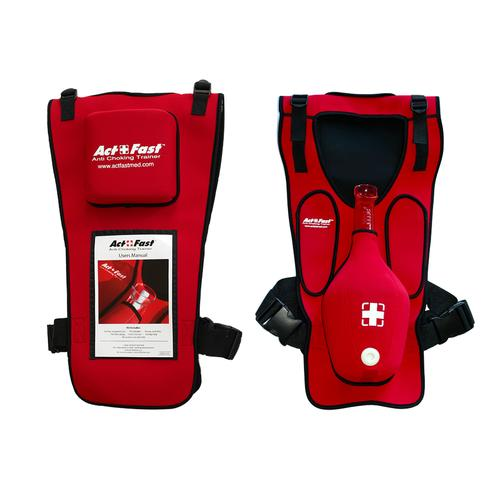 Act+Fast Rescue Choking Vest - Red with Slap Back, 1014589 [W43300R], BLS Adult