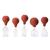 Glass cupping set w. suction bulb, 25-45 mm,set of 5 pcs., 1017754, Cupping Glasses (Small)