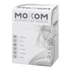 Acupuncture needles with steel handle, siliconized - MOXOM Steel - 0.20 x 15 mm (with tube) 100 needles, 1022108, Acupuncture Needles MOXOM