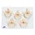 Set of  5 BONElike™ Lumbar Vertebrae - 3B Smart Anatomy, 1000155 [A792], Vertebra Models (Small)