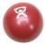 Cando Plyometric Weighted Ball, red, 3.3 lbs, 1008994 [W40122], Weights (Small)